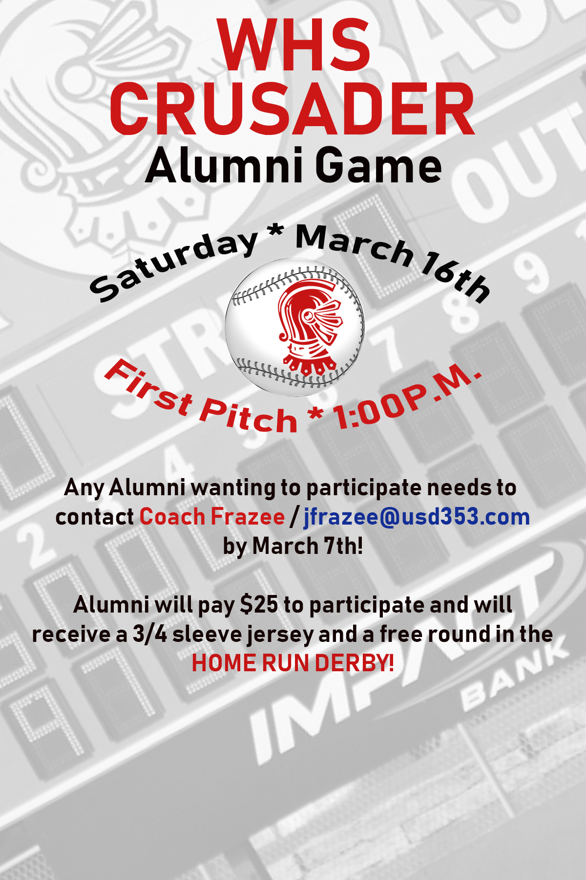 WHS Baseball Alumni Game