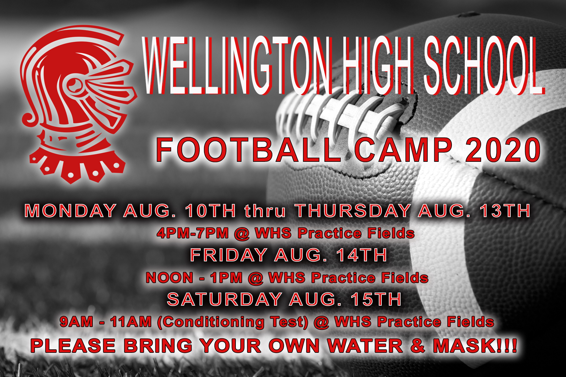 WHS Football Camp 2020 Promo