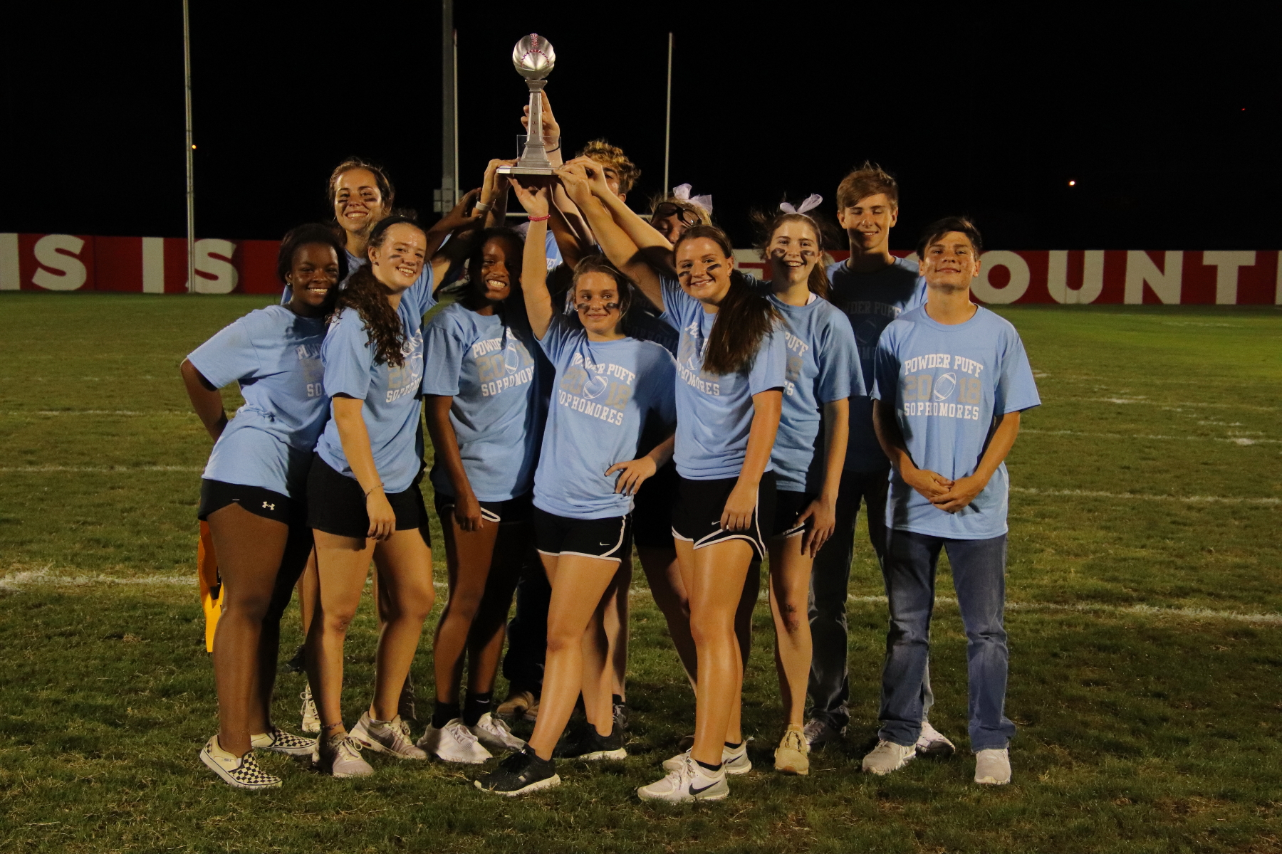 Powder Puff Football - SOPHS WIN!
