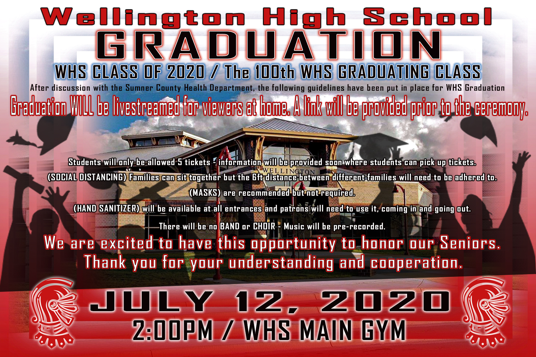 WHS Class of 2020 Graduation Information