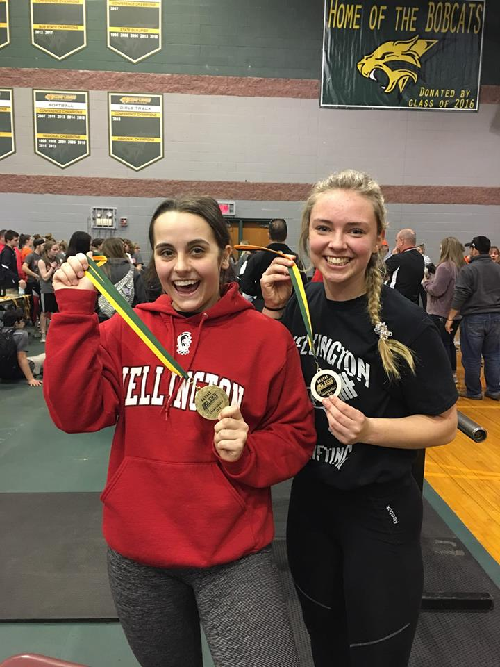 Elise & Taylor POWERLIFTING STATE 4A