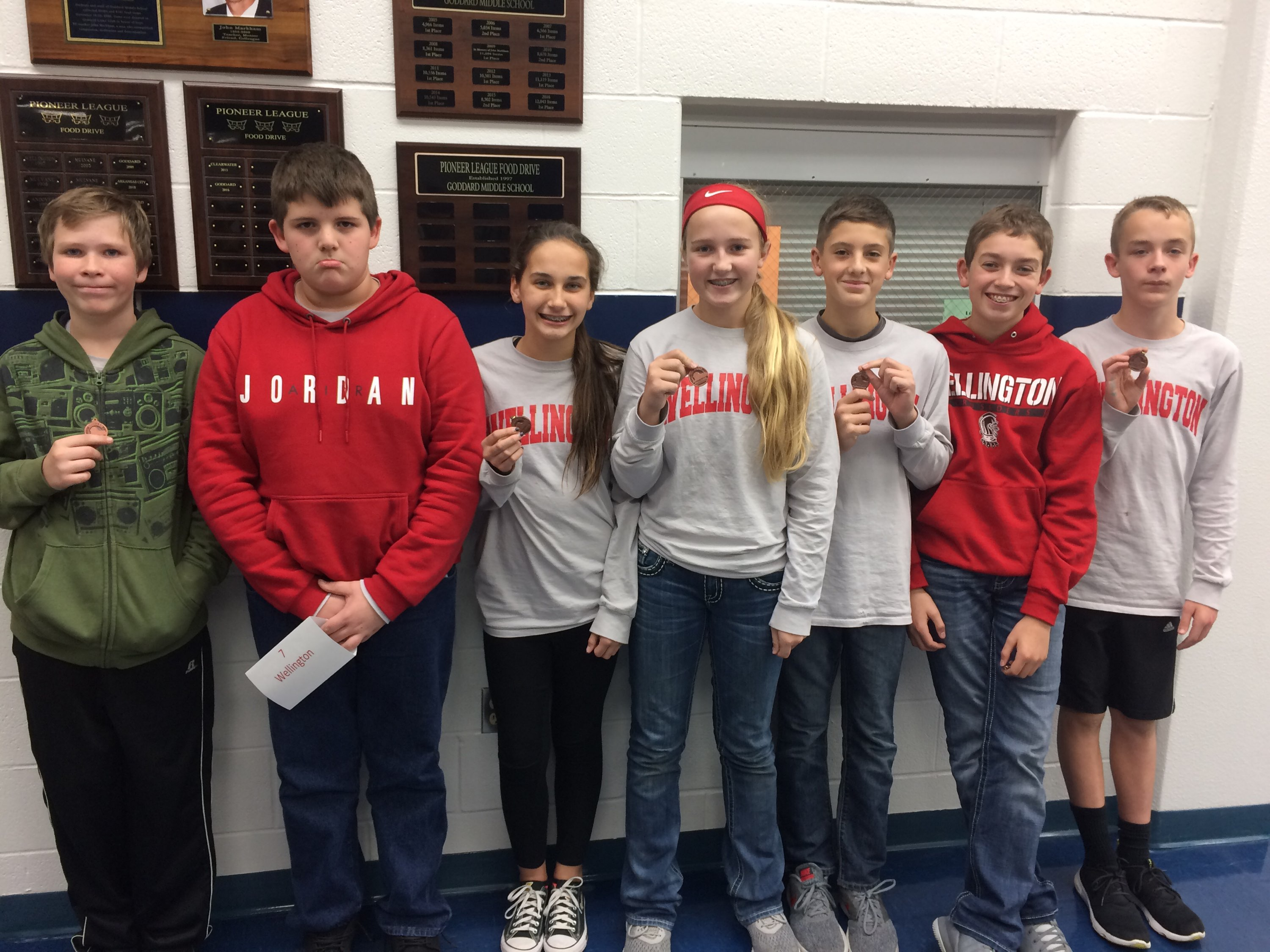 WMS 7th Grade Scholars Bowl Team 2017