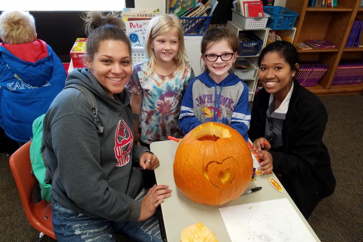 Pumpkin Carving WHS & Kennedy Students