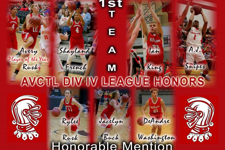 AVCTL DIV IV League Basketball Honors 2018
