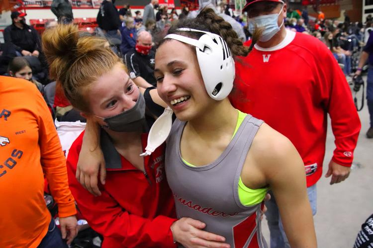 anna cullens STATE CHAMPION 109 lbs.