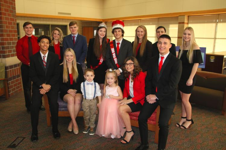 WHS Duke Dakota Lynnes and his Court