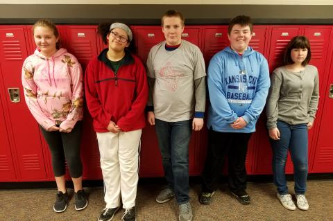 WMS Students of the Month JANUARY 2018
