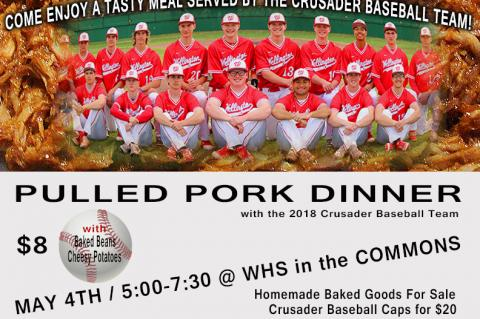 WHS Baseball Dinner May 4th