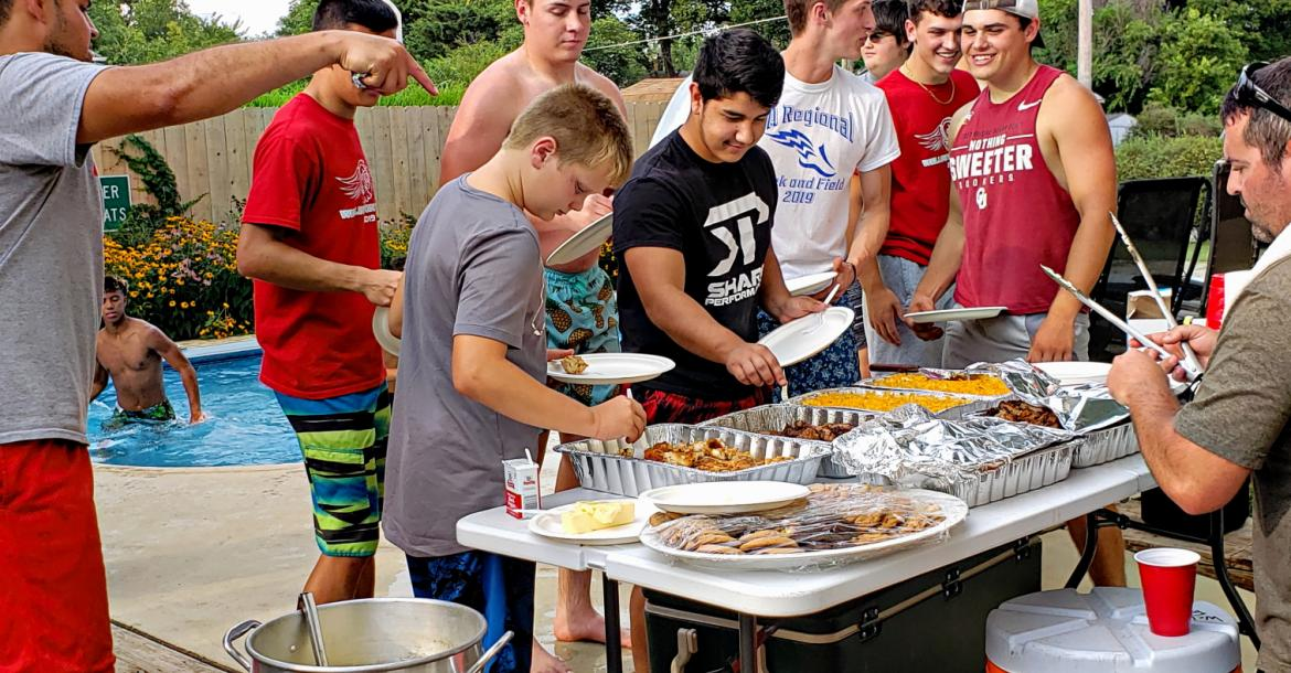 Senior Football Cook-Out
