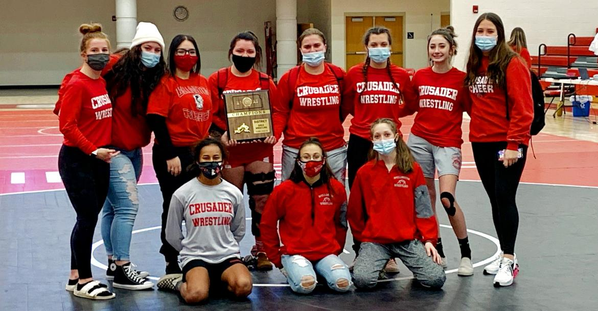 Girls Wrestling @ WHS - District Champs
